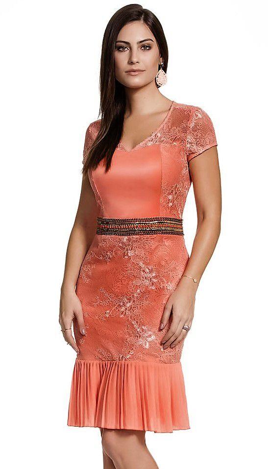 9658 - Vestido Plisse LaceFasciniu's