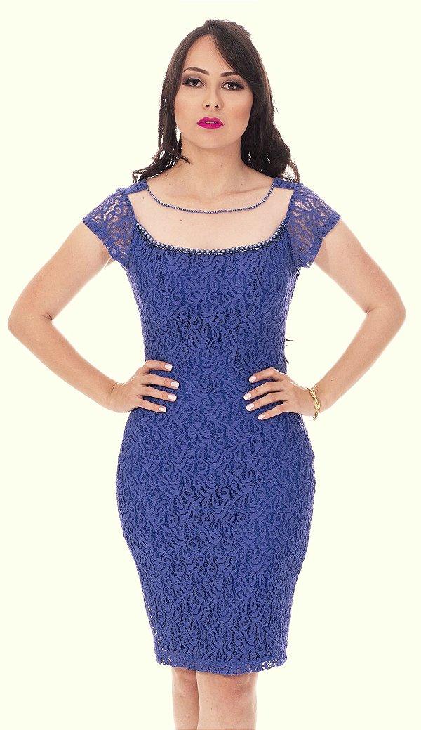 4119 - Vestido de Renda Lara - Mulata Café