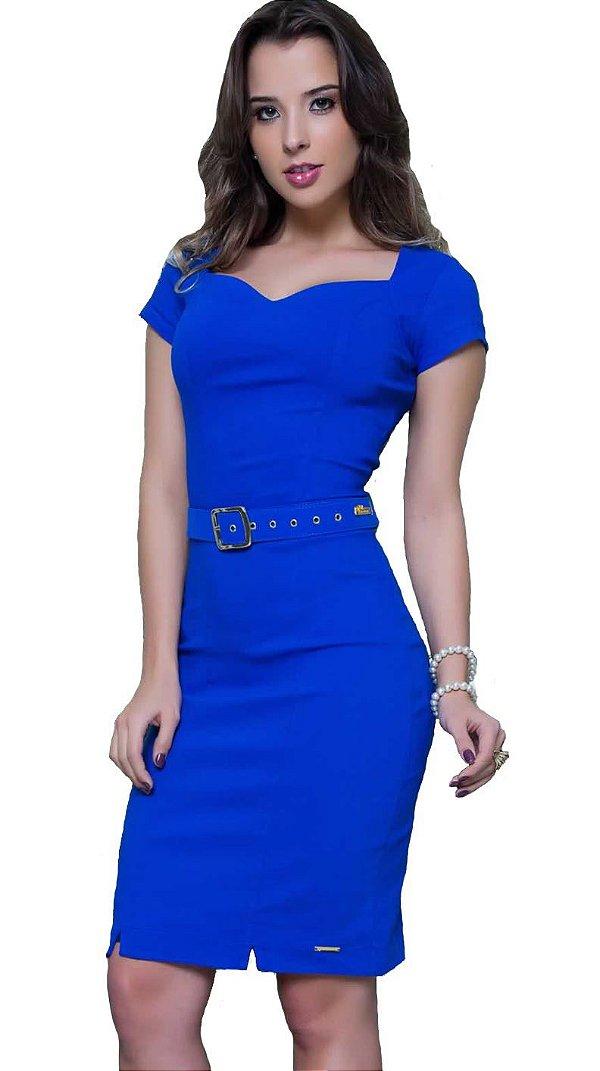PS10701 - Vestido Bengaline Com Recorte - Puro Sharmy