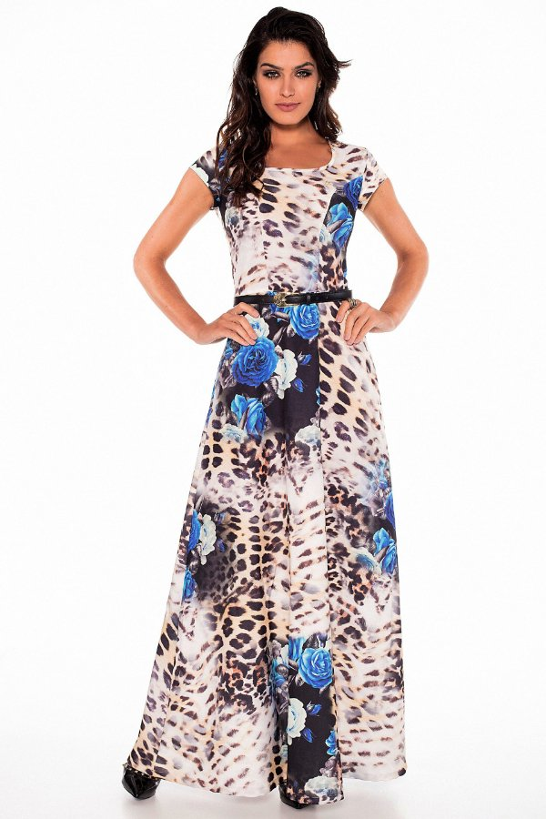 VT110470 - Vestido Longo Floral - Via Tolentino