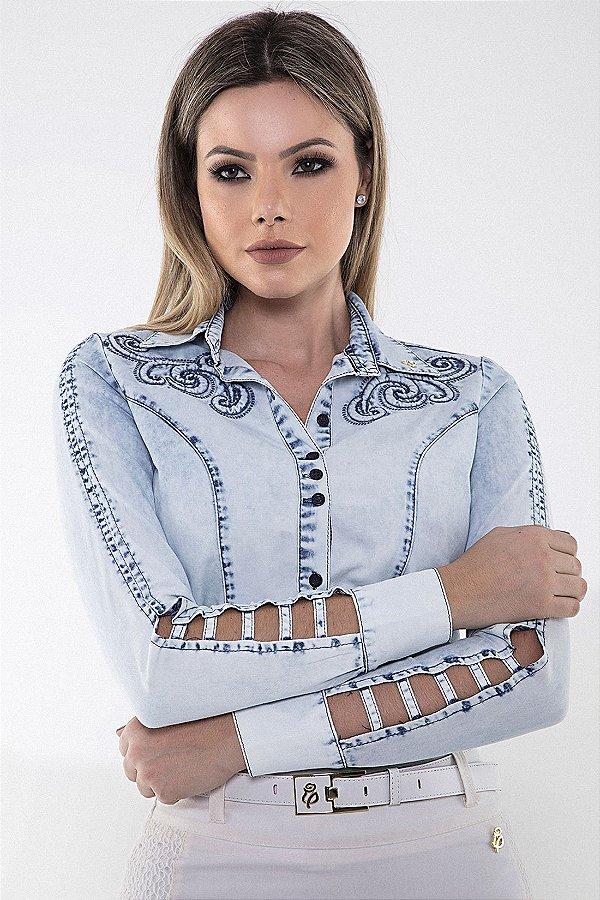 170024-Camisa Detalhe em Relevo-Via Tolentino