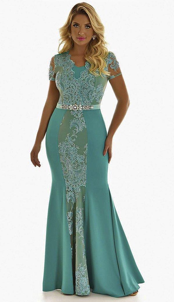 FC10847 - Vestido Longo Esmeralda - Fascinius