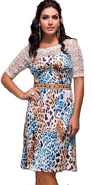 9991 -  Vestido com Detalhe em Renda - Clara Rosa