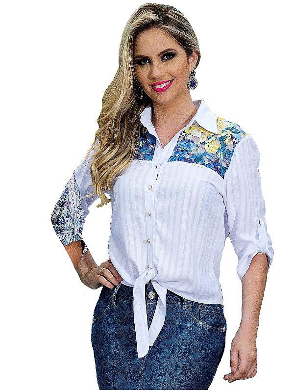 3184 - Camisa Amarração- D´azul