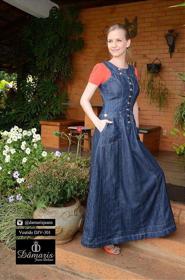 DJV301 - Vestido Jeans - Dâmaris Jeans Deluxe