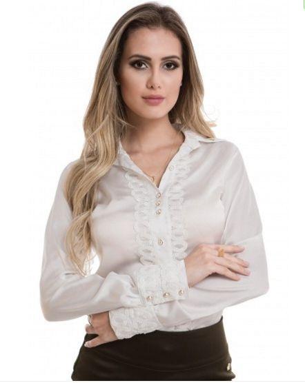 71108 - Camisa Detalhes Entremeio
