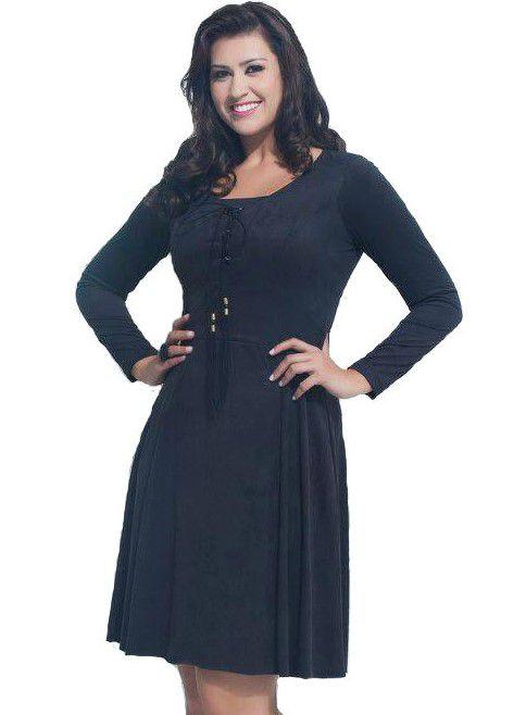 10392 - Vestido Suede - Puro Sharmy