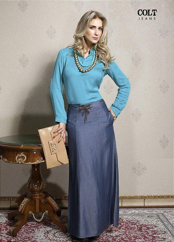 CT130 - Saia Jeans Longa - Colt Jeans