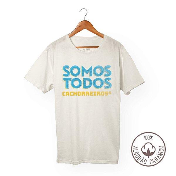 CAMISETA ALGODÃO ORGÂNICO SOMOS TODOS CACHORREIROS BLUE