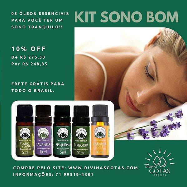 Kit Sono Bom - 5 Óleos Essenciais Para Estimular o Sono