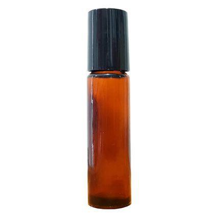 Frasco Vidro Rollon Ambar 10ml Fórmula de Aromaterapia