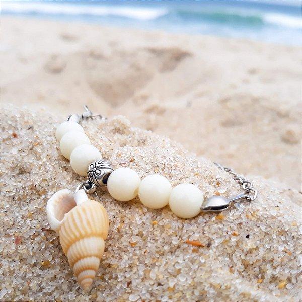 Pulseira concha da areia