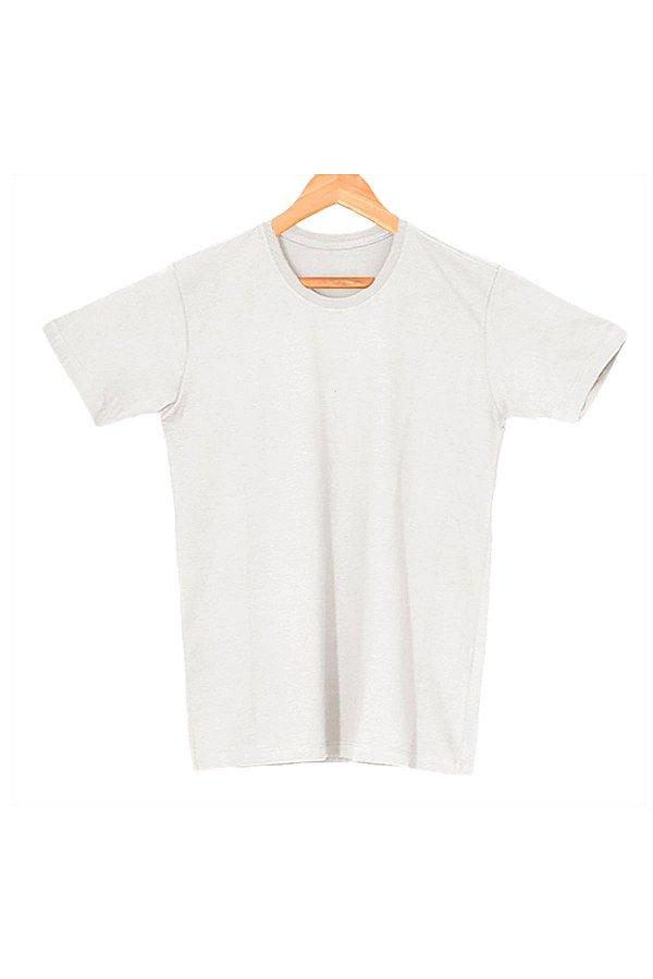T-Shirt Algodão Orgânico Cinza Mescla