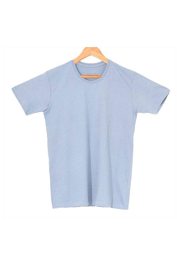 T-Shirt Algodão Orgânico Azul Mescla