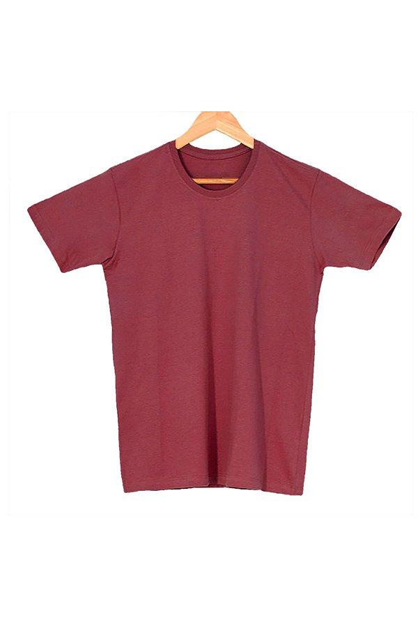 T-Shirt Algodão Orgânico Bordô