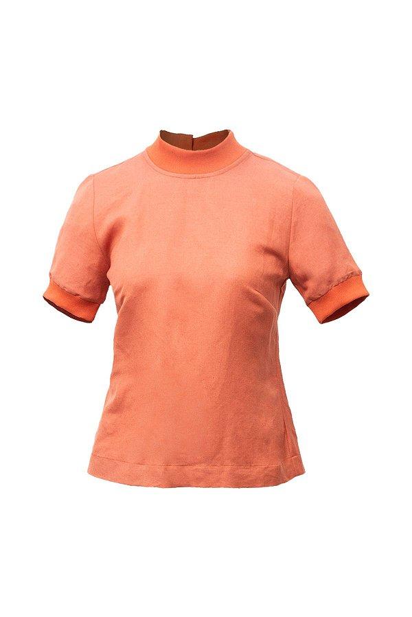 T-shirt Zíper Ocre