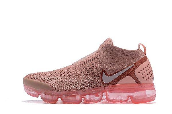 bdf6b844d4a Tênis Nike Air VaporMax Flyknit MOC 2 - Feminino - Pink - Os ...