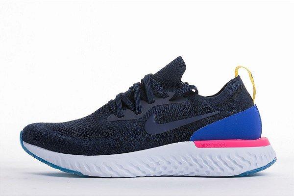 e845333a5efc7 Tênis Nike Epic React Flyknit - Feminino - Azul Royal - Os Melhores ...