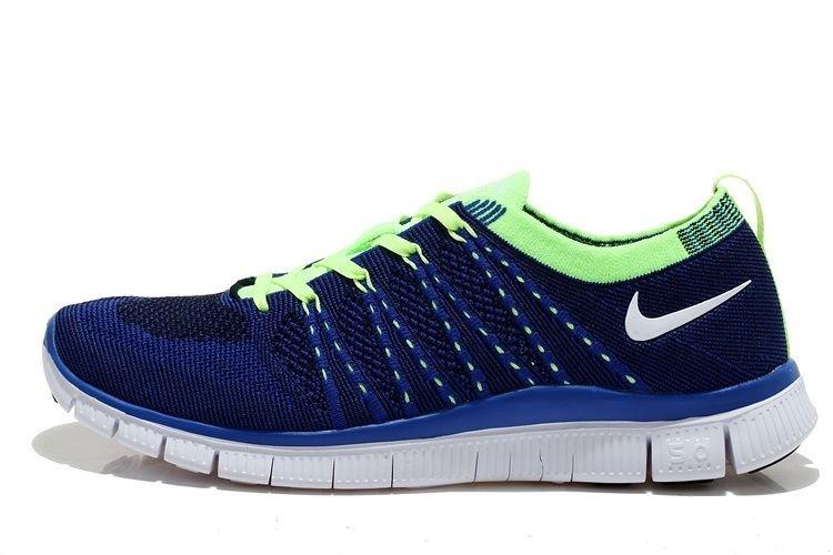 ede80288436 Tênis Nike Free 5.0 Flyknit - Feminino - Azul e Verde - Os Melhores ...
