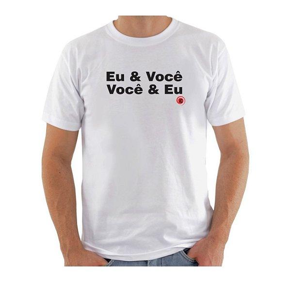 Camiseta Manga Curta iCuston EU & VOCÊ  VOCÊ & EU