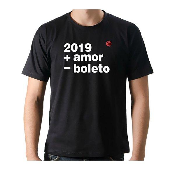 Camiseta Manga Curta iCuston 2019 + AMOR - BOLETO
