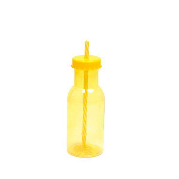Garrafinha de Plástico Amarelo - 01 unidade - 350 ml