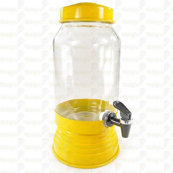 Suqueira de Vidro - Amarela - 01 unidade