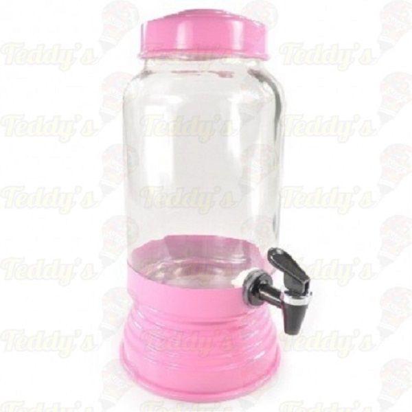 Suqueira de Vidro -  Rosa Bebê - 01 unidade
