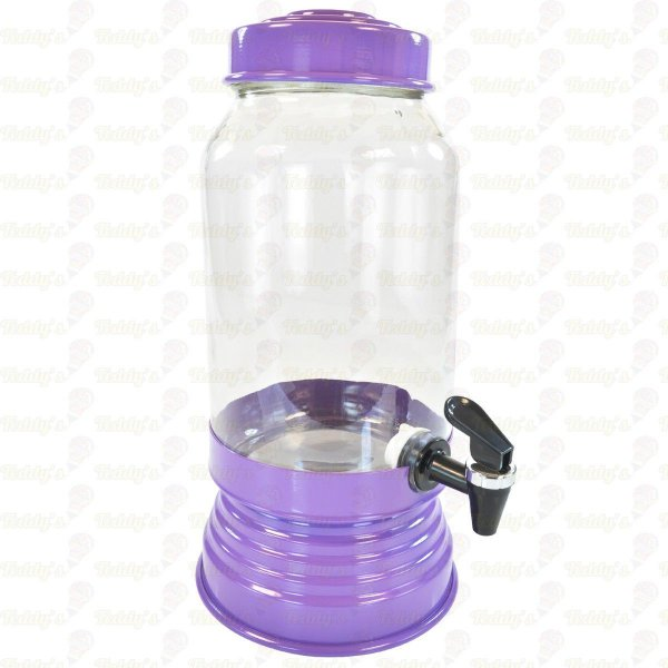 Suqueira de Vidro -  Lilás Escuro - 01 unidade