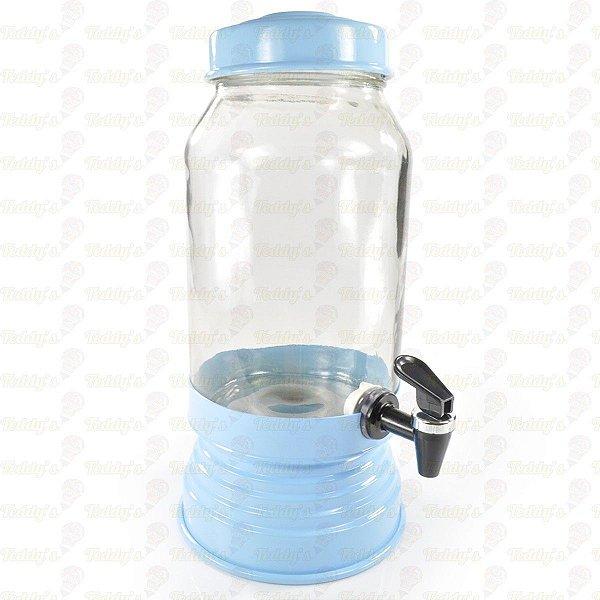 Suqueira de Vidro - Azul Bebê - 01 unidade