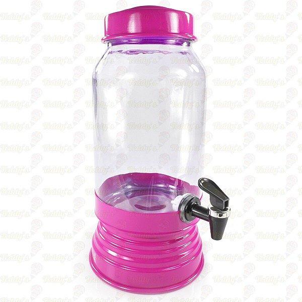 Suqueira de Vidro - Pink - 01 unidade