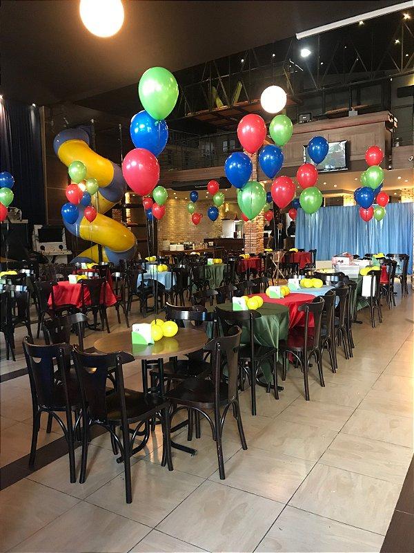 Centro de Mesa com balões simples e  base de balões ( a definir quantidade e cores)