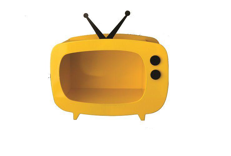 TV de MDF - Amarelo - 01 unidade