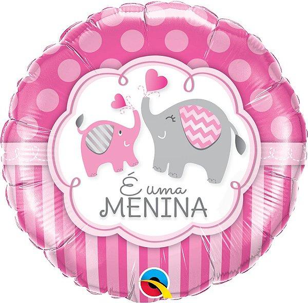 Balão E Uma Menina Elefantes - 01 unidade