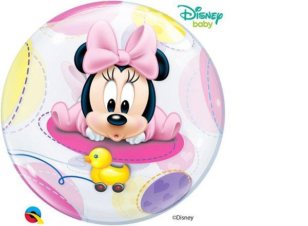 Balão Bubble Bebê Minnie Mouse da Disney - 01 unidade