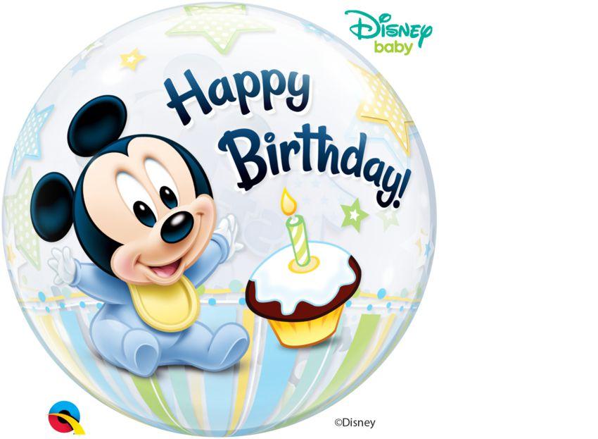 Balão Bubble 1º Aniversário Mickey Mouse da Disney  - 01 unidade