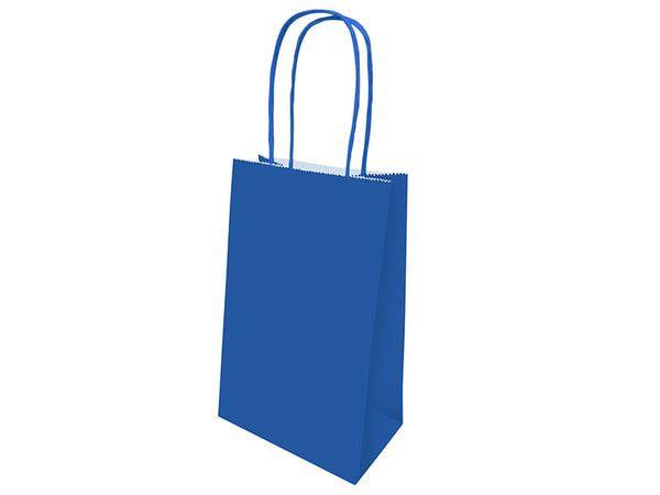 Sacola de Papel - Azul Marinho  - 1 Pacote