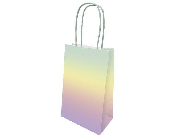 Sacola de Papel - Ombre Arco Iris - 1 Pacote