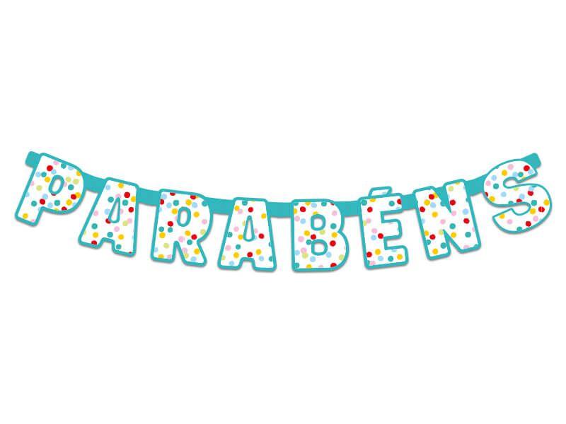 Faixa de Parabéns - Confetti - 01 unidade