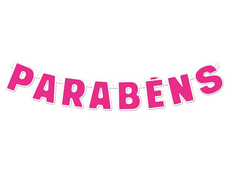 Faixa de Parabéns - Pink - 01 unidade
