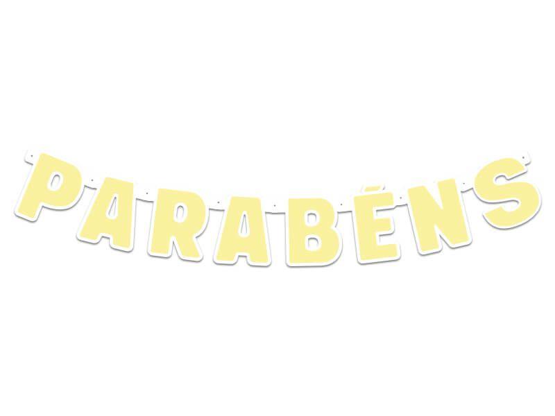 Faixa de Parabéns -Amarelo - 01 unidade