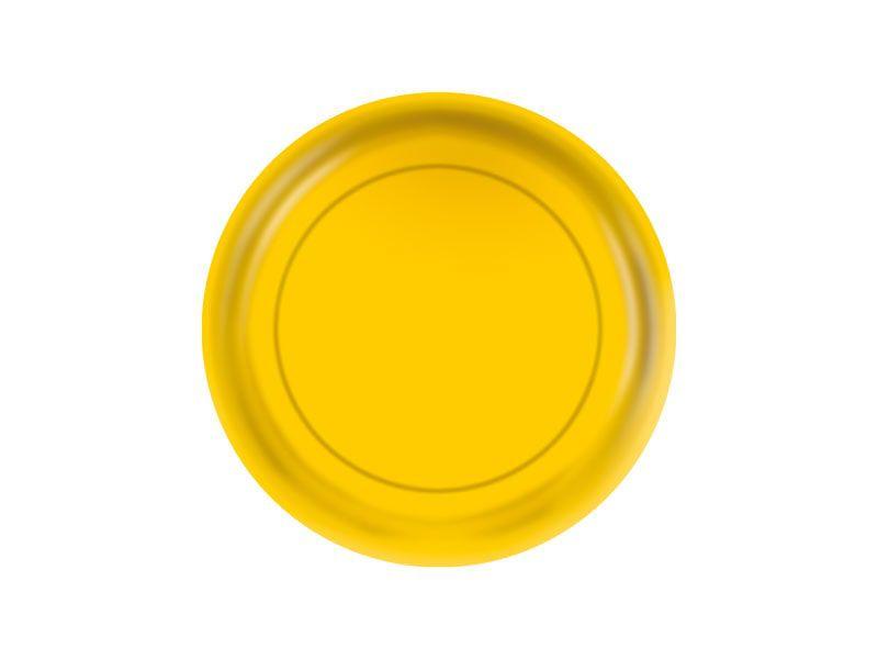 Prato de Papel - Amarelo - Pacote com 8 Unidades