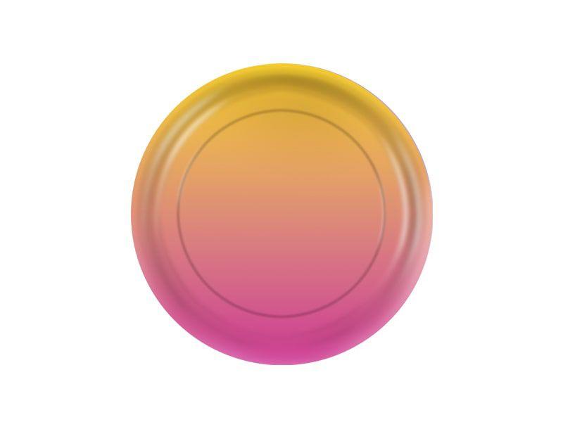 Prato de Papel - Amarelo e Rosa - Pacote com 8 Unidades