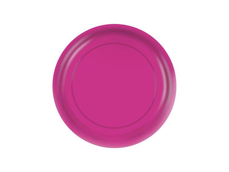 Prato de Papel - Pink - Pacote com 8 Unidades
