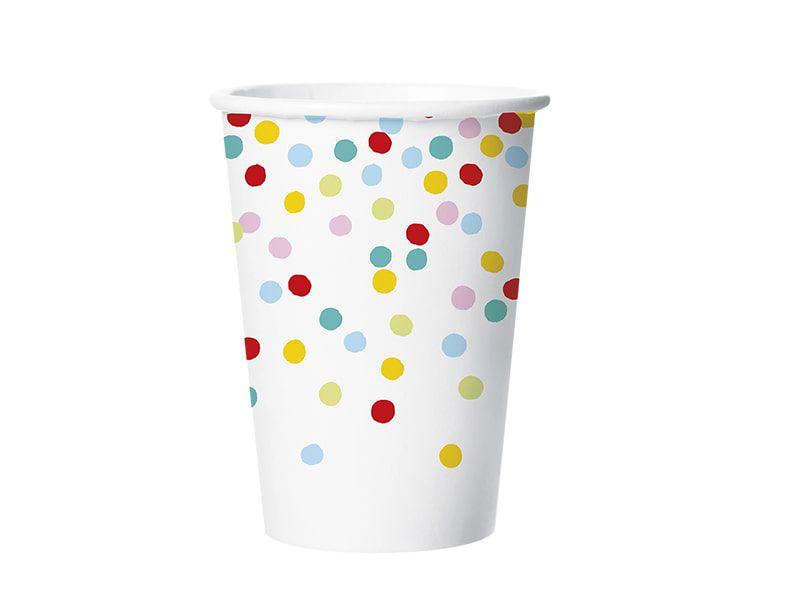 Copo de Papel - Confetti - Pacote com 8 Unidades