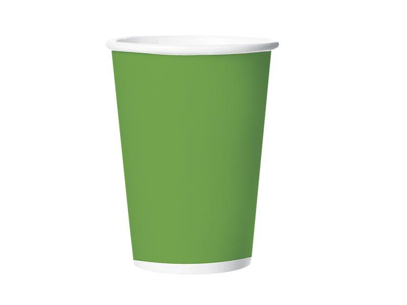 Copo de Papel - Verde - Pacote com 8 Unidades