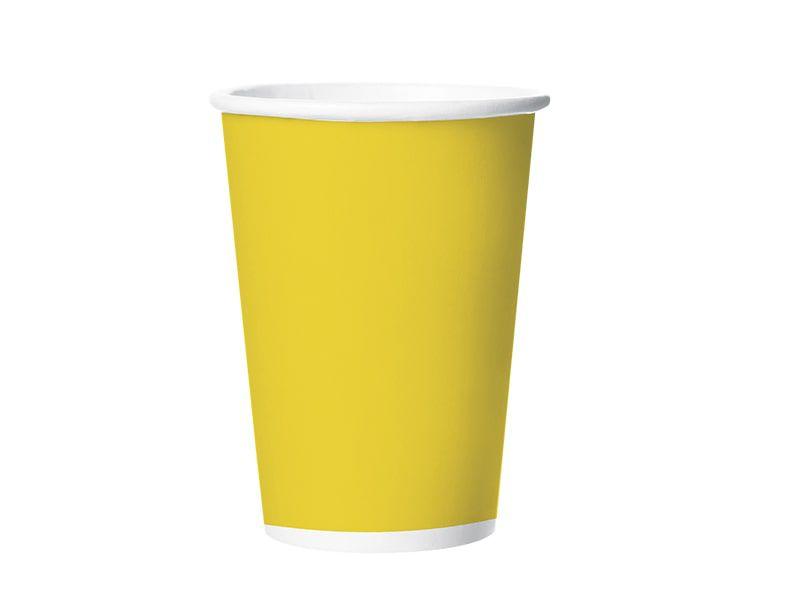 Copo de Papel - Amarelo - Pacote com 8 Unidades