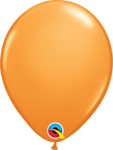 Balão de 5 Polegadas Laranja Qualatex - 05 unidades - Kit Teddys