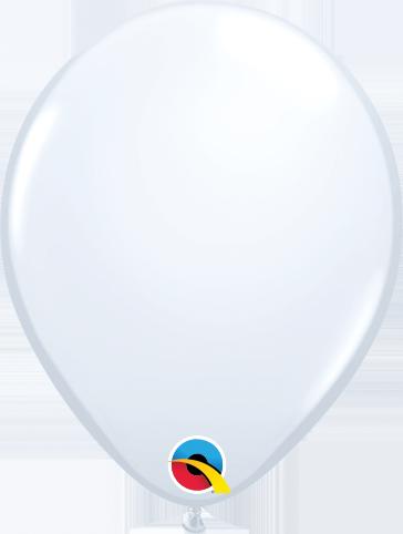 Balão de 5 Polegadas Branco Qualatex - 05 unidades - Kit Teddys