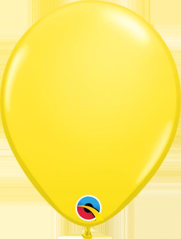 Balão de 5 Polegadas Amarelo Qualatex - 05 unidades - Kit Teddys
